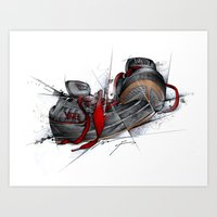 vans Art Prints featuring VANS by alexviveros.net