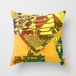 Huntington Beach Throw Pillow