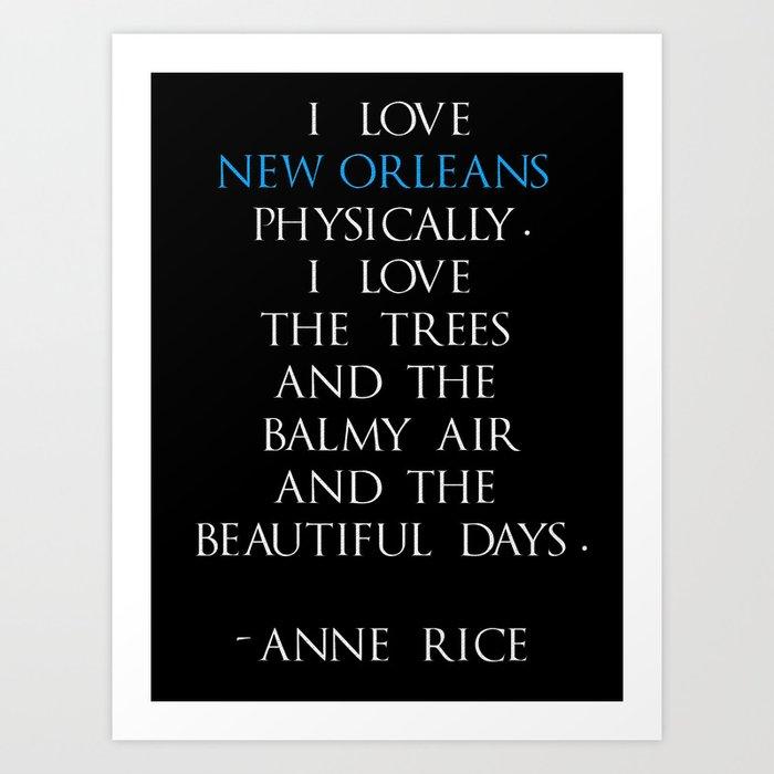 Anne Rice Art Print