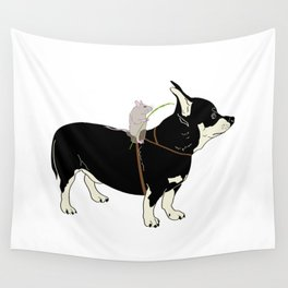 Mouse Rider Wall Tapestry
