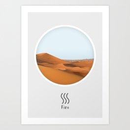 Fire Element, Circle Print Art Print