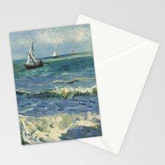 Seascape near Les Saintes-Maries-de-la-Mer by Vincent van Gogh Stationery Cards