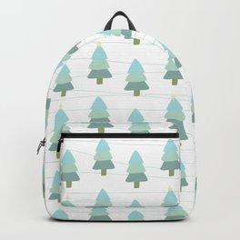 Pastel Christmas Trees (White) Backpack
