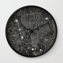 Vintage New Your City Map Wall Clock