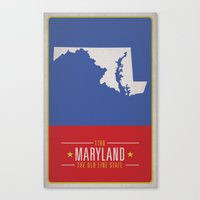 maryland Canvas Prints featuring MARYLAND by Matthew Justin Rupp