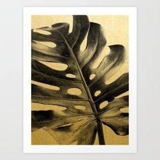 Golden Palms 02 Art Print