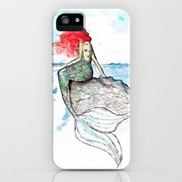 Mermaid - watercolor version iPhone Case