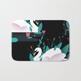 Swan print Bath Mat