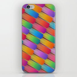 Colorful textured shapes pattern iPhone Skin