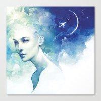 flight Canvas Prints featuring Flight by Anna Dittmann