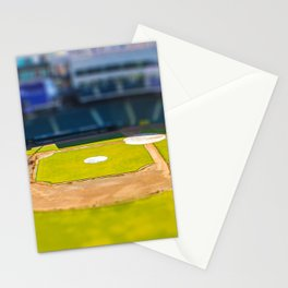 Baseball Field by Monique Ortman Stationery Cards