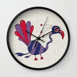 Purple Turrrkey Wall Clock