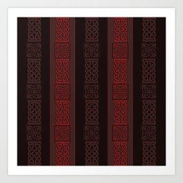 Viking dark red Art Print