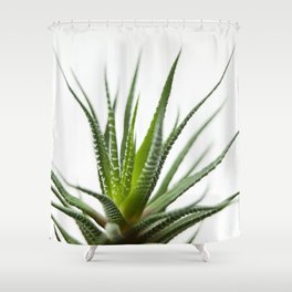 Fleshy in this green flower-plants Shower Curtain