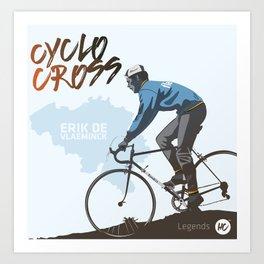 Cyclocross - Legends Erik De Vlaeminck Art Print
