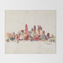 Minneapolis Minnesota Throw Blanket
