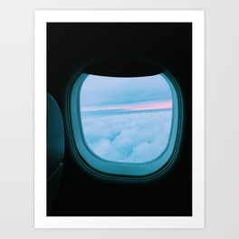 View from the plane Art Print