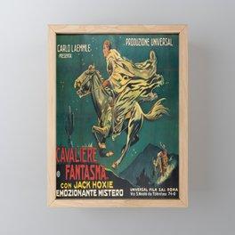 manifesto cavaliere fantasma. 1924 Framed Mini Art Print