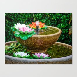 Flower Water Feature Canvas Print