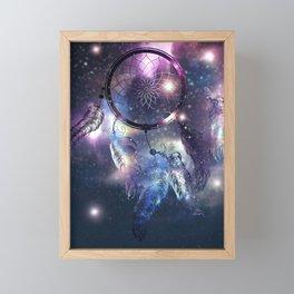 Cosmic Dreamcatcher design Framed Mini Art Print