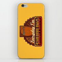 magic the gathering iPhone & iPod Skins featuring Everyday I'm Shuffling (No Dice Version)  |  Magic The Gathering by Silvio Ledbetter