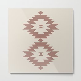 Southwestern Minimalism - Dark Rose Metal Print