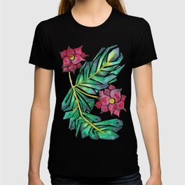 tropical watercolor floral T-shirt