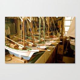 Handmade Boats Canvas Print