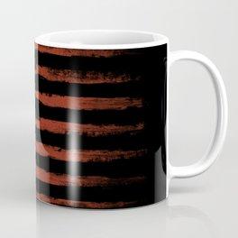 Grunge American flag on black Coffee Mug