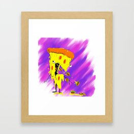 Pizza Barf Framed Art Print