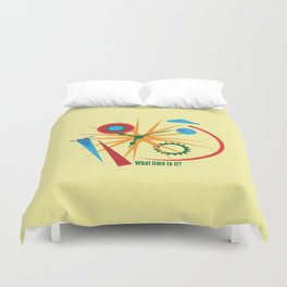 Abstract clock Duvet Cover
