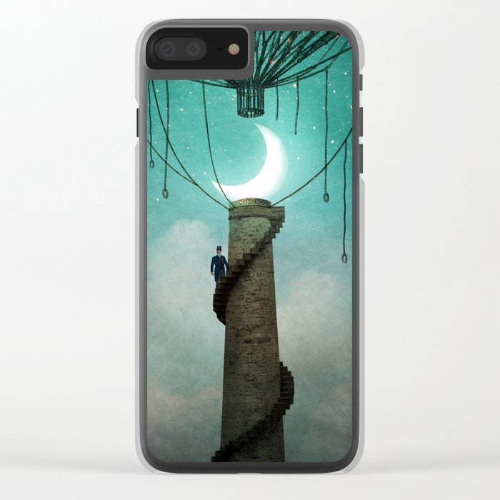 Enter the Sky Clear iPhone Case