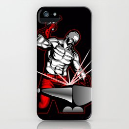illustration of a blacksmith iPhone Case