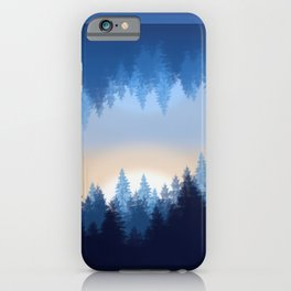 Winter Pines Reflected iPhone Case