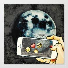Snapchat the moon Canvas Print