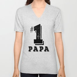 Papa No. 1 Father Day Gift Best Dad Ever Unisex V-Neck