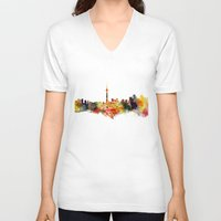 toronto V-neck T-shirts featuring  Toronto  by mark ashkenazi