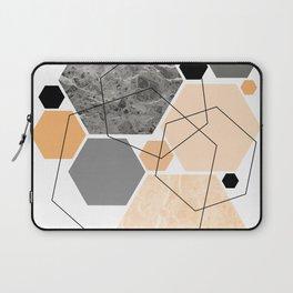Orange Hexagon, Scandinavian Art Laptop Sleeve