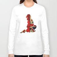 england Long Sleeve T-shirts featuring ENGLAND by mark ashkenazi