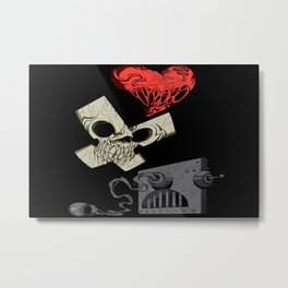 Love, Death & Robots Netflix artwork digital animated series Metal Print