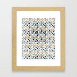 Geometric Pattern - Oriental Design Framed Art Print