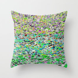 solarized landscape Throw Pillow