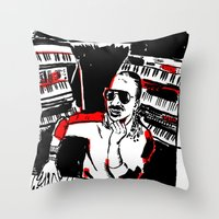 stevie nicks Throw Pillows featuring Stevie by Sam Ayres