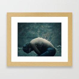 A Frozen Mermaid Framed Art Print