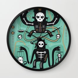 Chamanistik in blue Wall Clock