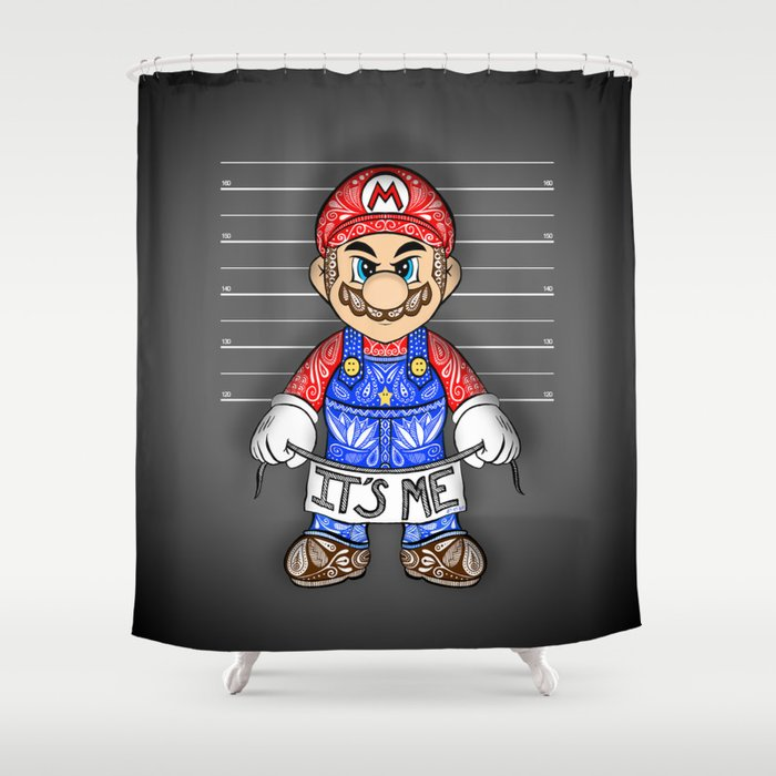 It's ME, Evil Mario !  Shower Curtain