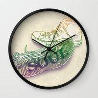 soul Wall Clocks featuring Soul by Dianne Delahunty