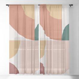 Abstract Geometric 13 Sheer Curtain