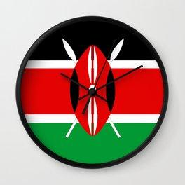 Kenya country flag Wall Clock