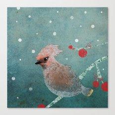 Tweet in the Snow Canvas Print